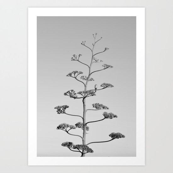 One false Leaf  ~Silver~ Art Print