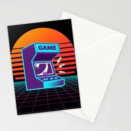Arcade Machine Retrowave Stationery Cards
