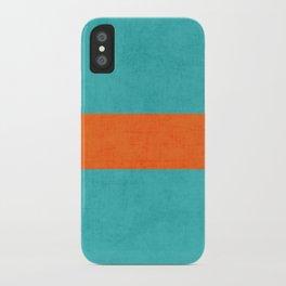 aqua and orange classic iPhone Case