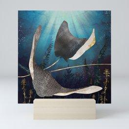 Metallic Stingray Mini Art Print