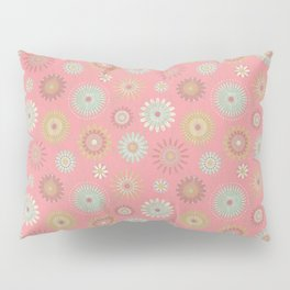 Pressed Flowers in Pink Pillow Sham