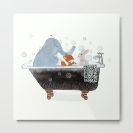 little bath time Metal Print