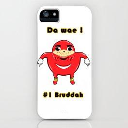 Uganda Knuckles iPhone Case