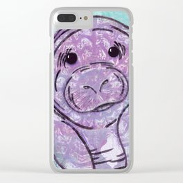 Abstract Manatee Clear iPhone Case