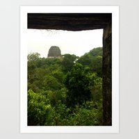 View of Temple V Art Print