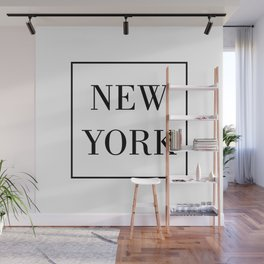 """"""" Travel Collection """" - Minimal New York Typography Wall Mural"""