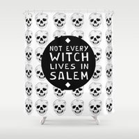 coven Shower Curtains featuring HOMELESS. by Francesca Skellington
