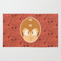 megaman Area & Throw Rugs featuring Megaman by Kuki
