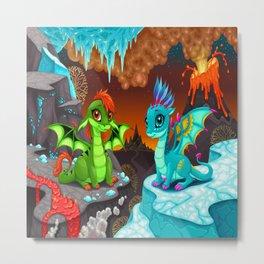 Baby Dragons Metal Print