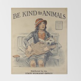 Be Kind To Animals 4 Throw Blanket