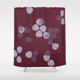 Bright Spring Petals in Burgundy Shower Curtain
