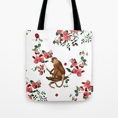 Monkey World: Nosy - White Tote Bag