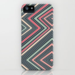 Red, Green, Blue, and Peach Lines - Illusion iPhone Case