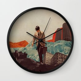 Leaving Their Cities Behind Wall Clock