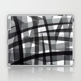 grey crossed stripes Laptop & iPad Skin