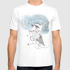 Ice Cream White MEDIUM Mens Fitted Tee