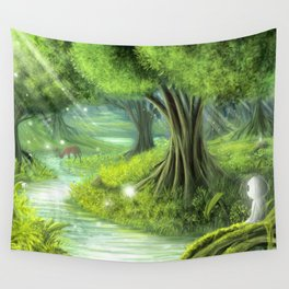 Forest Spirits Wall Tapestry