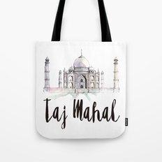 Taj Mahal watercolor Tote Bag