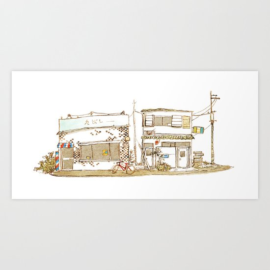 Two Buildings Art Print