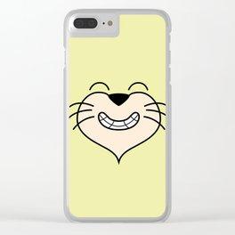 Cat Face 02 Design 02 Clear iPhone Case