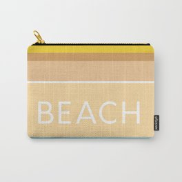 Modern Abstract Beach Colored Stripes Carry-All Pouch