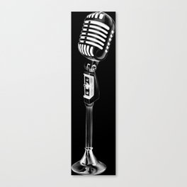 Vintage Microphone Creation Canvas Print