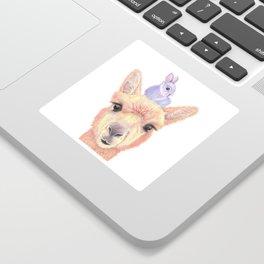 Orange Alpaca and Purple Bunny Sticker