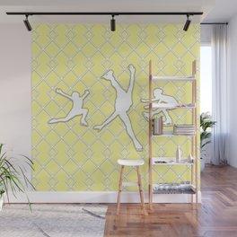 Sunbeam Yellow Girls Figure Skating Wall Mural