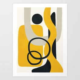 Abstract Yellow Line I Art Print