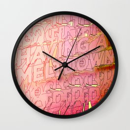 MELTDOWN 3D Wall Clock