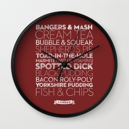 London — Delicious City Prints Wall Clock