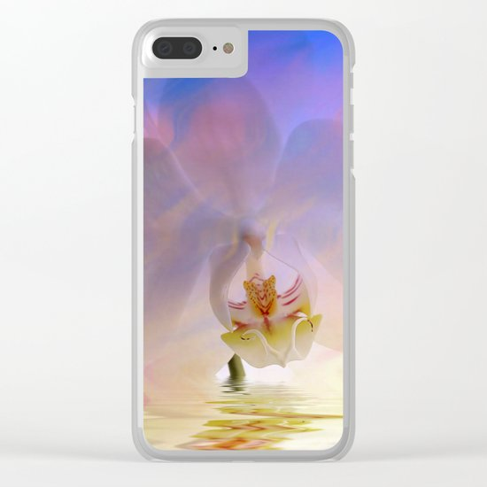 Orchid in a bath 1 - Flower and Flowers on #Society6 Clear iPhone Case