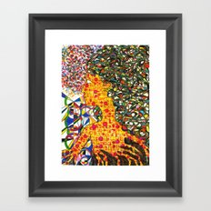 Yellow Girl Framed Art Print