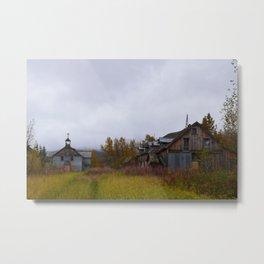 Abandoned Orphanage in Northwest Alaska Metal Print