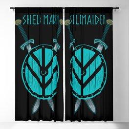 Viking Shield Maiden Badass Woman Warrior Blackout Curtain