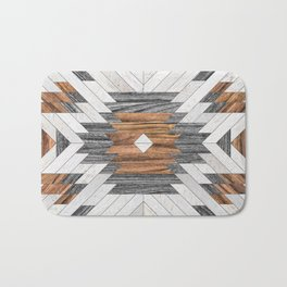 Urban Tribal Pattern No.8 - Aztec - Wood Bath Mat