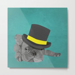 Dapper Dog - French Bulldog Metal Print