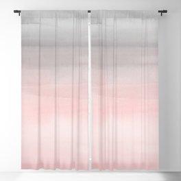 Blushing Pink & Grey Watercolor Blackout Curtain