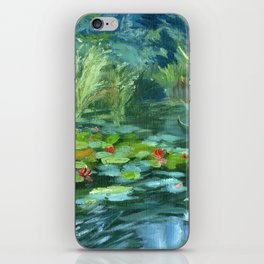 Pink Water Lilies At Lake Tekapo iPhone Skin