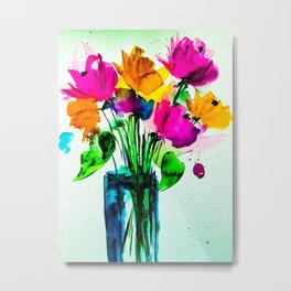 big colorful bouquet Metal Print