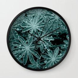 Raindrops III Wall Clock