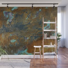 Blue Lagoons in Rusty World Wall Mural
