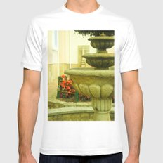 SOURCE OF THE CHURCH Mens Fitted Tee SMALL White