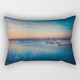 Peaceful sunset on the river Rectangular Pillow