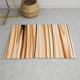 wooden abstract striped pattern Rug