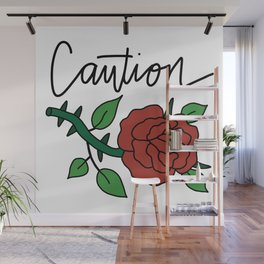CAUTION Wall Mural