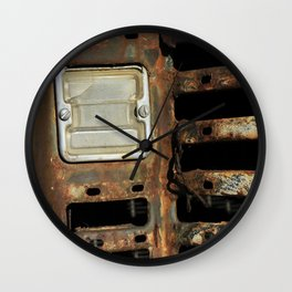 Detail: Rusted International 1 Wall Clock