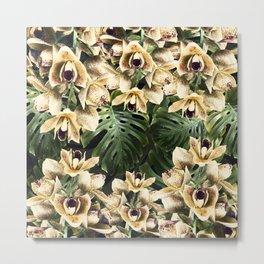 Hot Summer Tropical Orchid Jungle Print Metal Print
