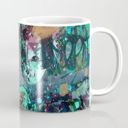 Graffiti and Paint Splatter Coffee Mug