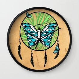 Butterfly Dream-Catcher Wall Clock